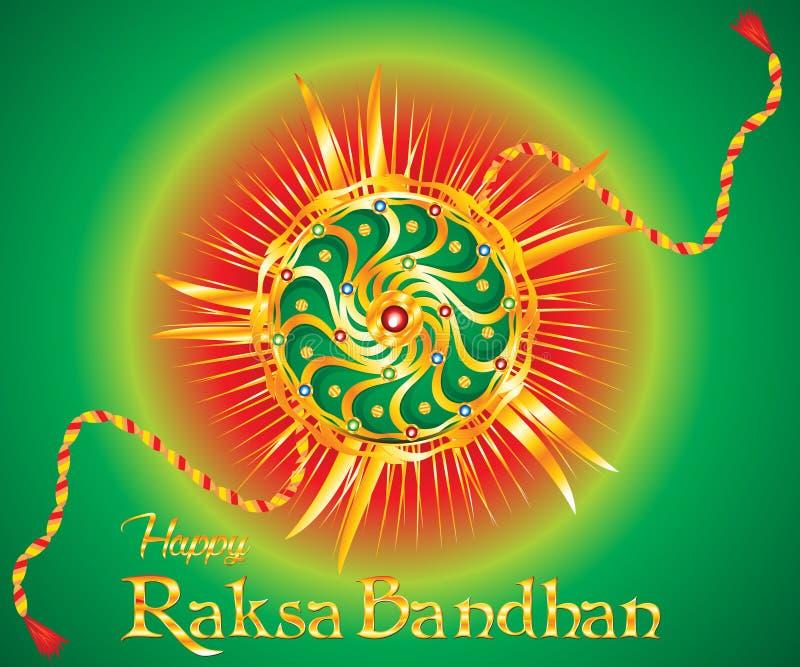 Rakhi bandhan del raksha creativo artístico del extracto stock de ilustración