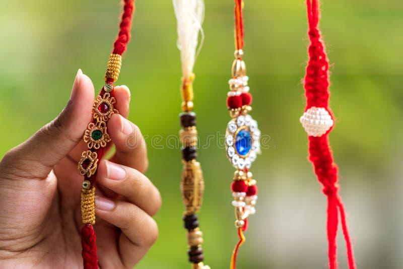 Rakhi bonito feito a mão foto de stock