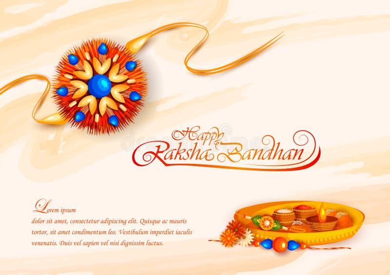 Rakhi décoré pour le festival indien Raksha Bandhan illustration stock
