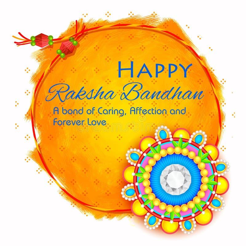 Rakhi decorativo para o fundo de Raksha Bandhan ilustração stock