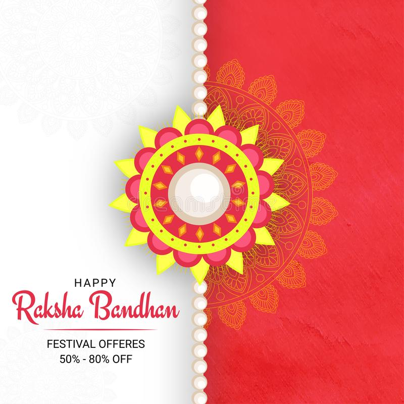 Rakhi, frère indien et concept de Raksha Bandhan de festival de soeur illustration stock
