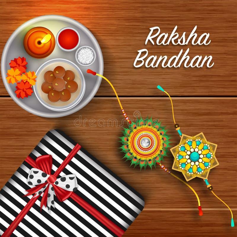 Rakhi, frère indien et concept de Raksha Bandhan de festival de soeur illustration de vecteur