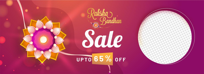 Rakhi, Indiański brat i siostra festiwalu Raksha Bandhan pojęcie, royalty ilustracja