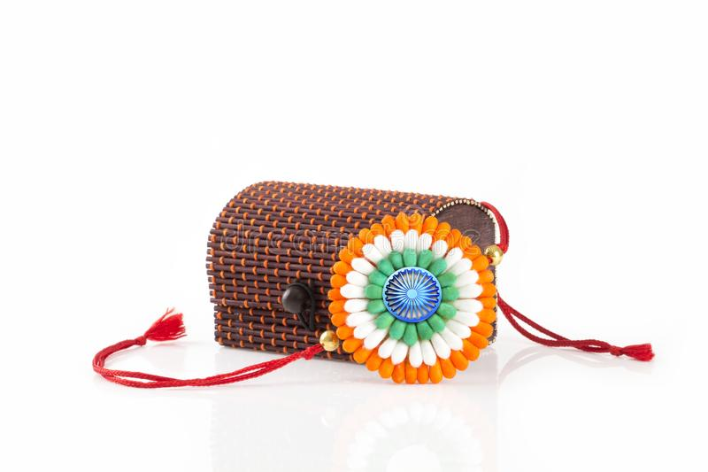 Rakhi na dniu niepodległości rakshabandhan obrazy royalty free