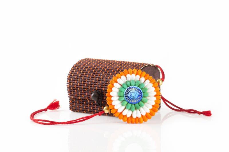 Rakhi på den rakshabandhan självständighetsdagen royaltyfria bilder