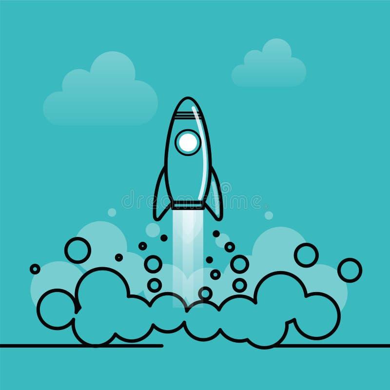 rakieta ilustracji