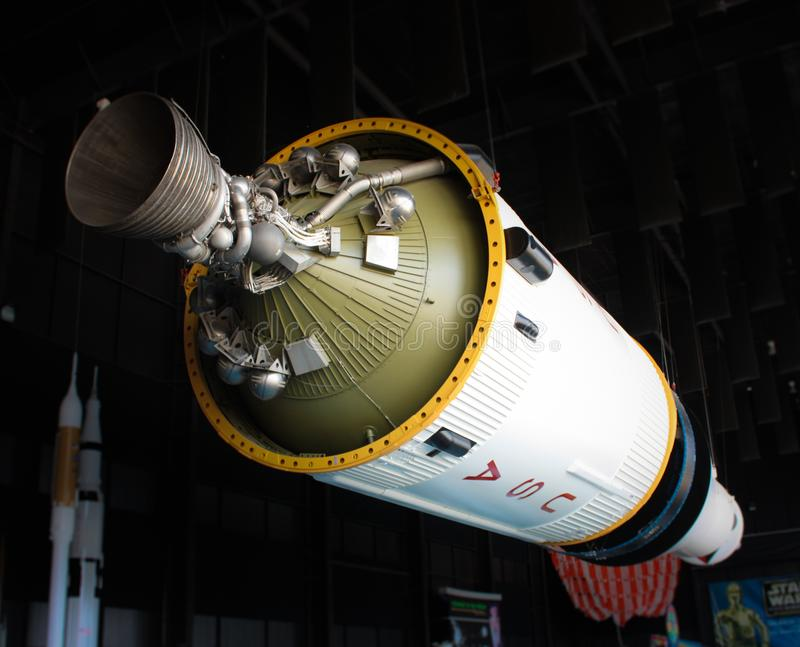 Rakieta przy USA Astronautycznym centrum w Huntsville obrazy royalty free