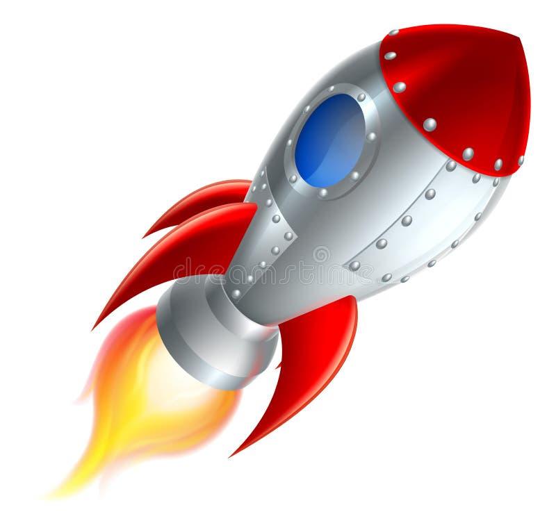 Rakietowa Astronautycznego statku kreskówka ilustracji