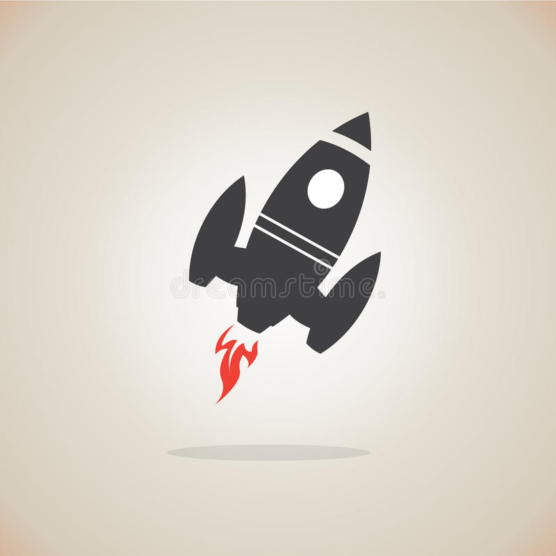 Rakietowa ikona ilustracji