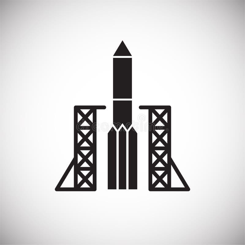 Rakietowa ikona na tle dla grafiki i sieci projekta Prosty wektoru znak Internetowy poj?cie symbol dla strona internetowa guzika  royalty ilustracja