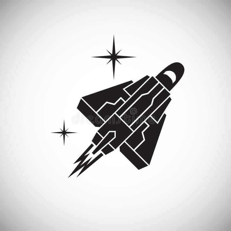 Rakietowa ikona na tle dla grafiki i sieci projekta Prosty wektoru znak Internetowy poj?cie symbol dla strona internetowa guzika  ilustracji
