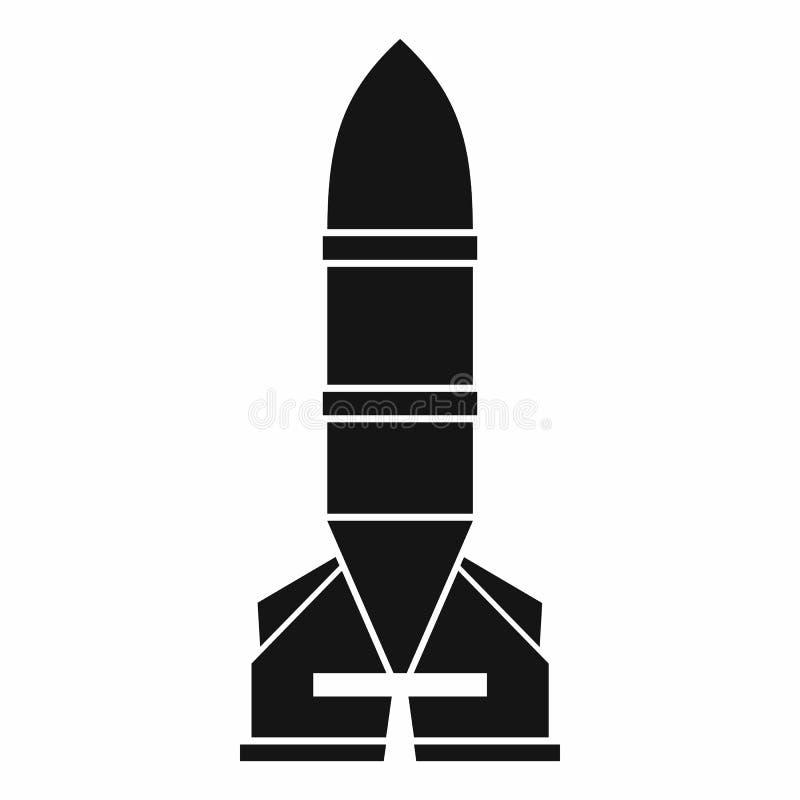 Rakietowa ikona, prosty styl ilustracja wektor