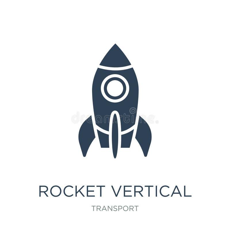 rakietowa pionowo pozycji ikona w modnym projekta stylu rakietowa pionowo pozycji ikona odizolowywająca na białym tle rakietowy p ilustracji
