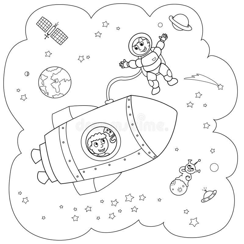 rakietowa przestrzeń ilustracji