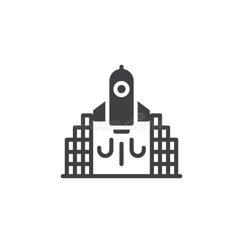 Rakietowa wodowanie wektoru ikona ilustracji