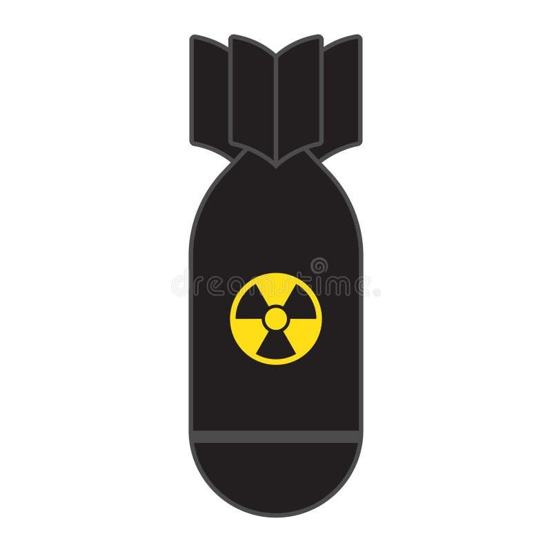 Rakietowej bomby komarnicy zestrzelają ilustracja wektor