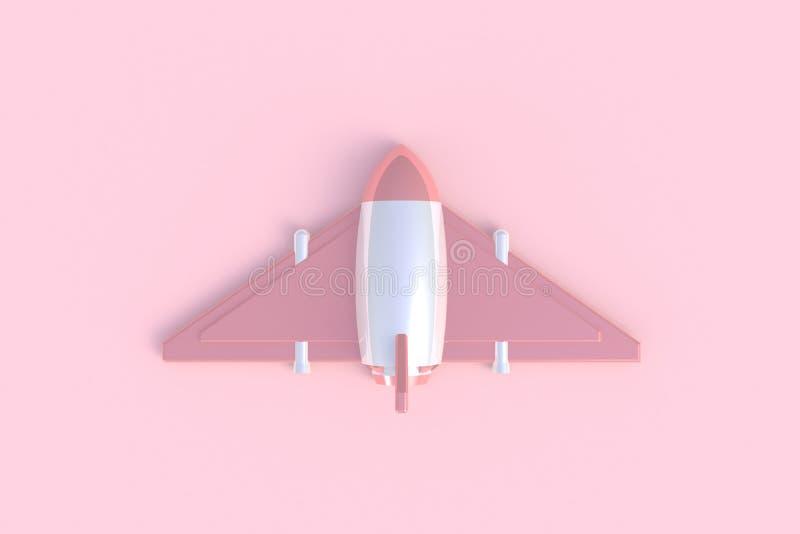 Rakietowy abstrakcjonistyczny minimalny różowy tło obrazy royalty free