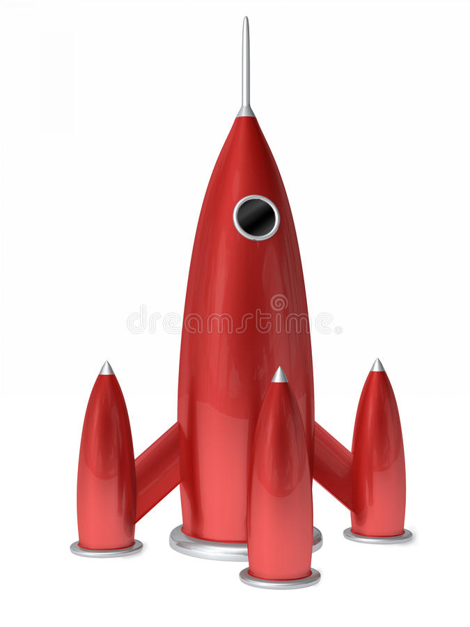 rakietowy statek ilustracja wektor