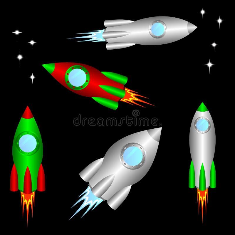rakiety przestrzeń ilustracja wektor
