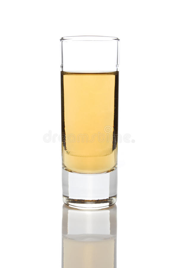 Rakija em um vidro imagem de stock