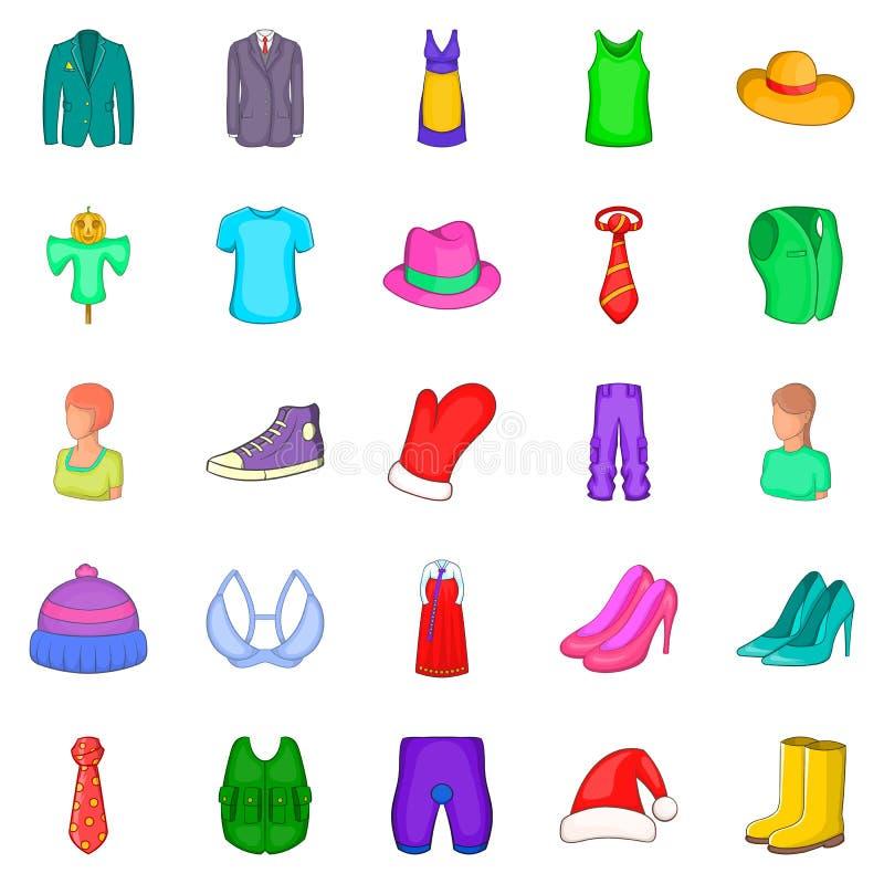 Download Rakish Geplaatste Pictogrammen, Beeldverhaalstijl Vector Illustratie - Illustratie bestaande uit manier, toebehoren: 107708456
