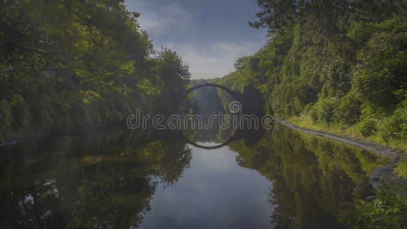 Rakotz桥梁在东德 免版税库存图片