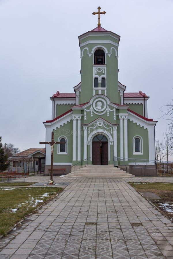 RAKOVSKI, BULGARIEN - 31. DEZEMBER 2016: Die Roman Catholic-Kirche Unbefleckte Empfängnis von Jungfrau Maria in der Stadt von Rak lizenzfreies stockbild