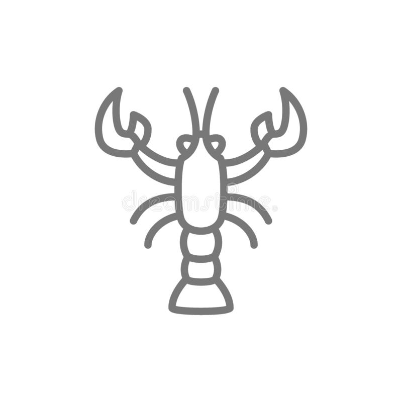 Rakowy, rak, homar kreskowa ikona ilustracji