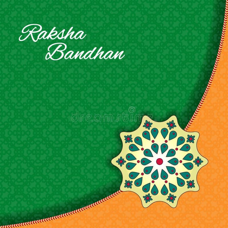 Raksha Bandhan庆祝背景 皇族释放例证