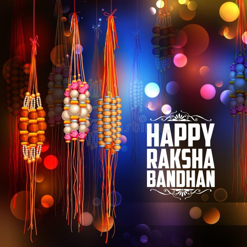 Raksha Bandhan背景的装饰Rakhi 库存例证