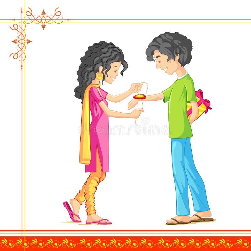 Raksha Bandhan illustration stock