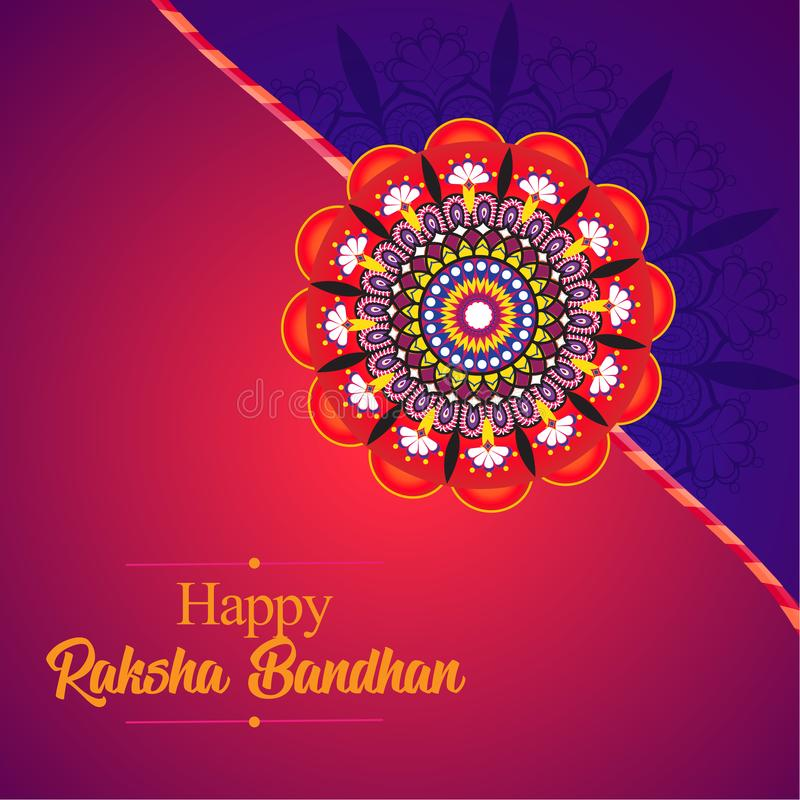 Raksha Bandhan, Indian Festival. Mandala Rakhi stock illustration