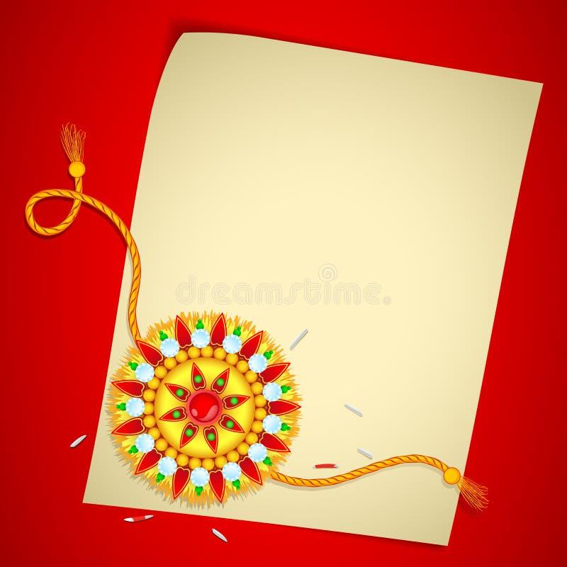Download Raksha Bandhan Message stock vector. Image of illustration - 25768042