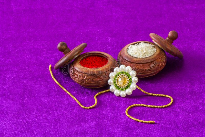 Raksha Bandhan rakhi. Close up stock image