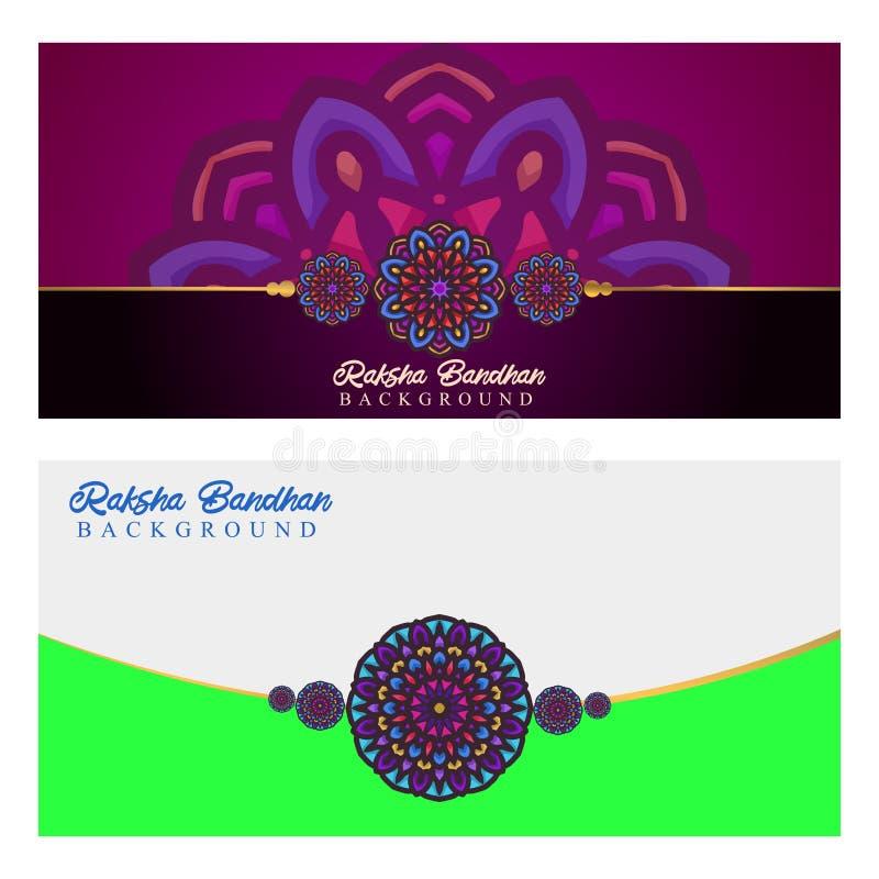 Raksha bandhan vector background design ornamental royalty free illustration