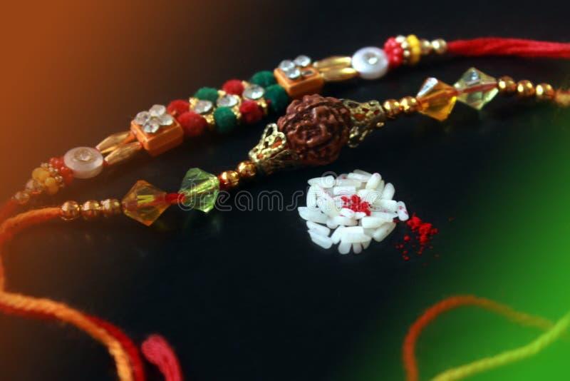 Raksha Bandhan-vieringsbehang stock foto's