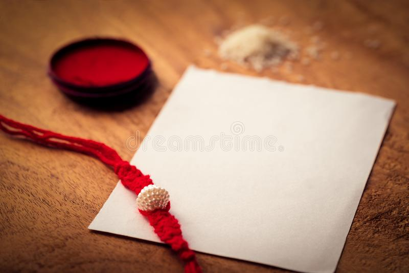 Rakshabandhan, A Hindu Ritual For Brother And Sister stock image