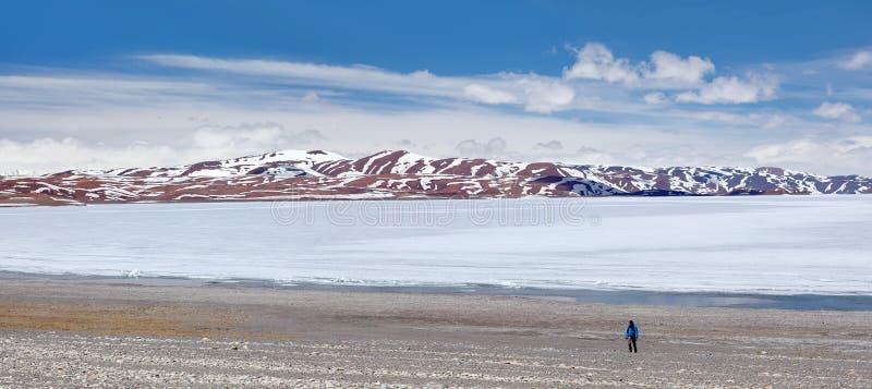 Rakshas Tal i västra Tibet, Kina royaltyfria bilder