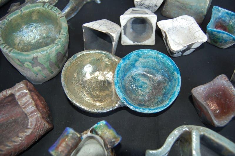 Raku-Keramik stockfotos
