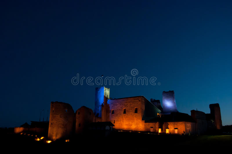 Rakvere Stronghold At Night Royalty Free Stock Photography