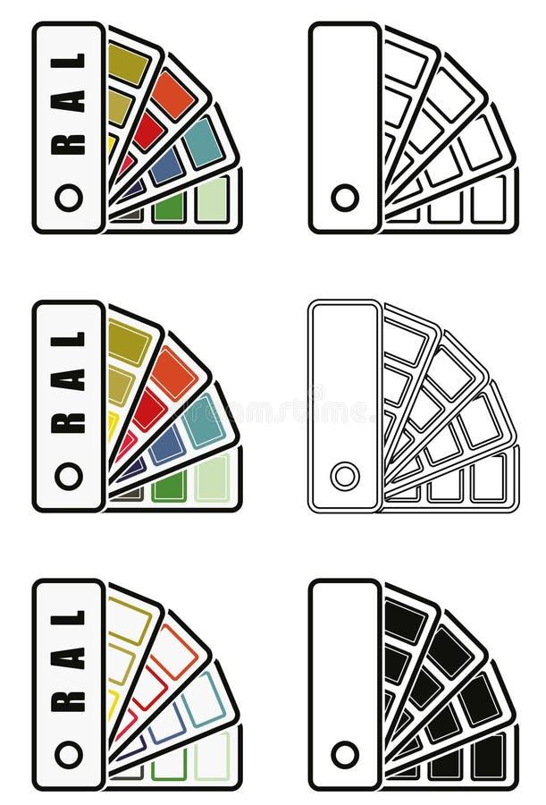 Ral colorea el icono del dechado fotos de archivo libres de regalías