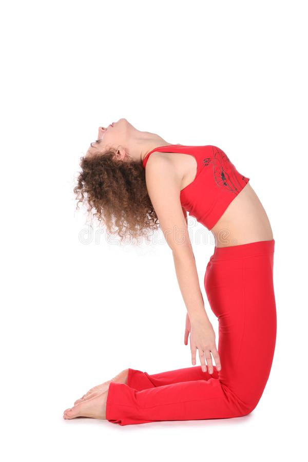 Ralaxing yoga girl royalty free stock photos