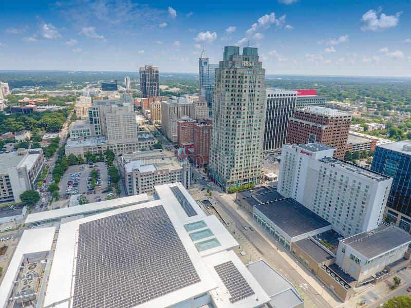 Raleigh, воздушное фотографирование NC стоковая фотография