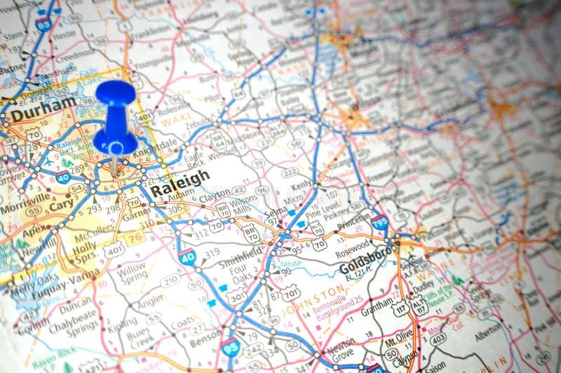Mapa De Camino De Raleigh North Carolina Foto De Archivo Imagen De