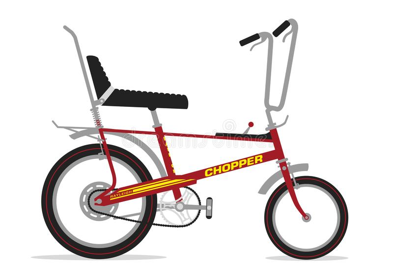 Raleigh Chopper Bike royaltyfri illustrationer