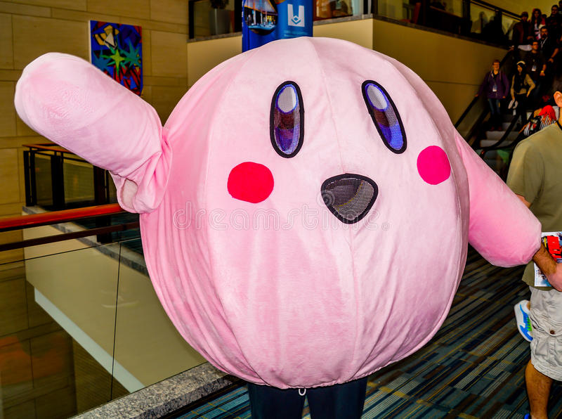 RALEIGH - 23 de maio: Participante 2014 da convenção do anime de Animazement cos fotos de stock royalty free