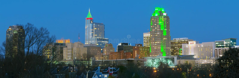 Raleigh del centro, NC U.S.A. fotografia stock libera da diritti