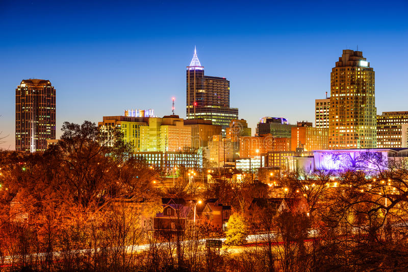 Raleigh linia horyzontu fotografia royalty free