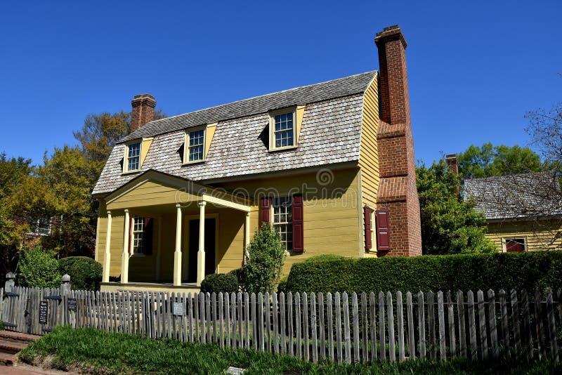 Raleigh, NC: Joel Lane Museum House 1779 fotografia stock libera da diritti