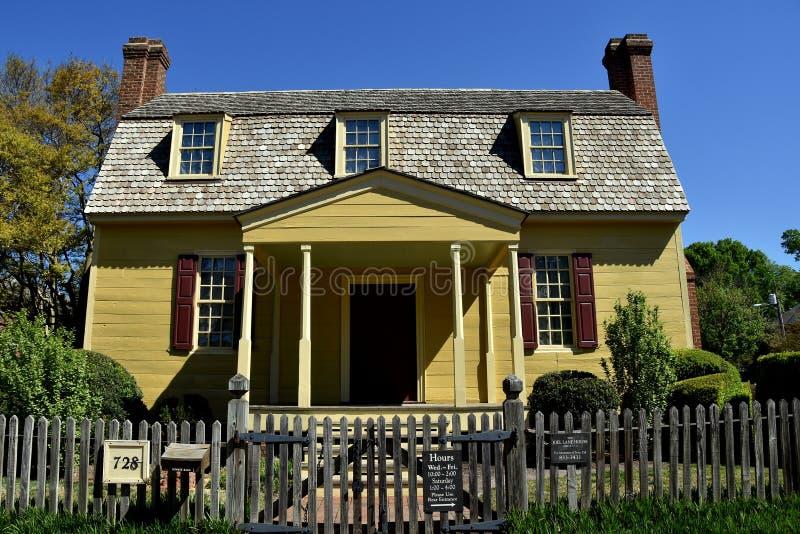 Raleigh, NC: 1779 Joel Lane Museum House royalty-vrije stock afbeeldingen